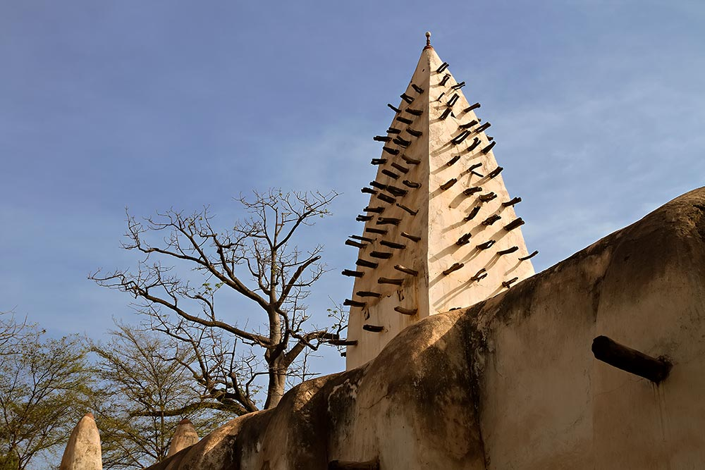 The Grande Mosque in Bobo Dioulasso, Burkina Faso.