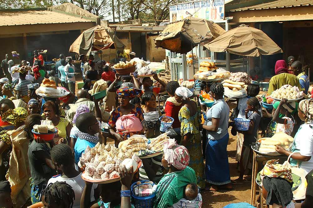 Market life in Bobo Dioulasso, Burkina Faso.