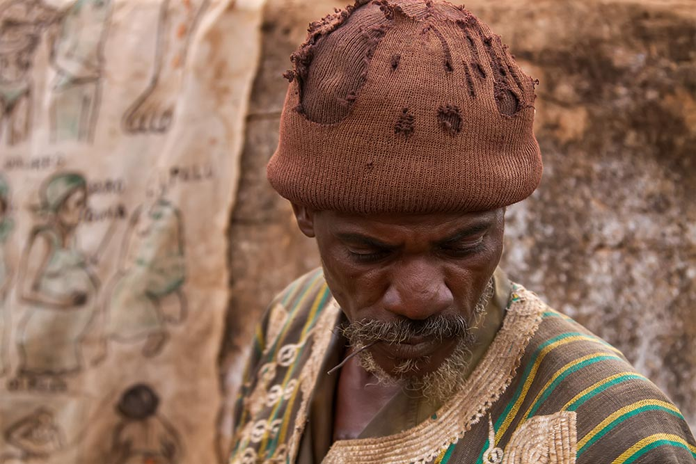 A traditions healer in Bobo Dioulasso, Burkina Faso.