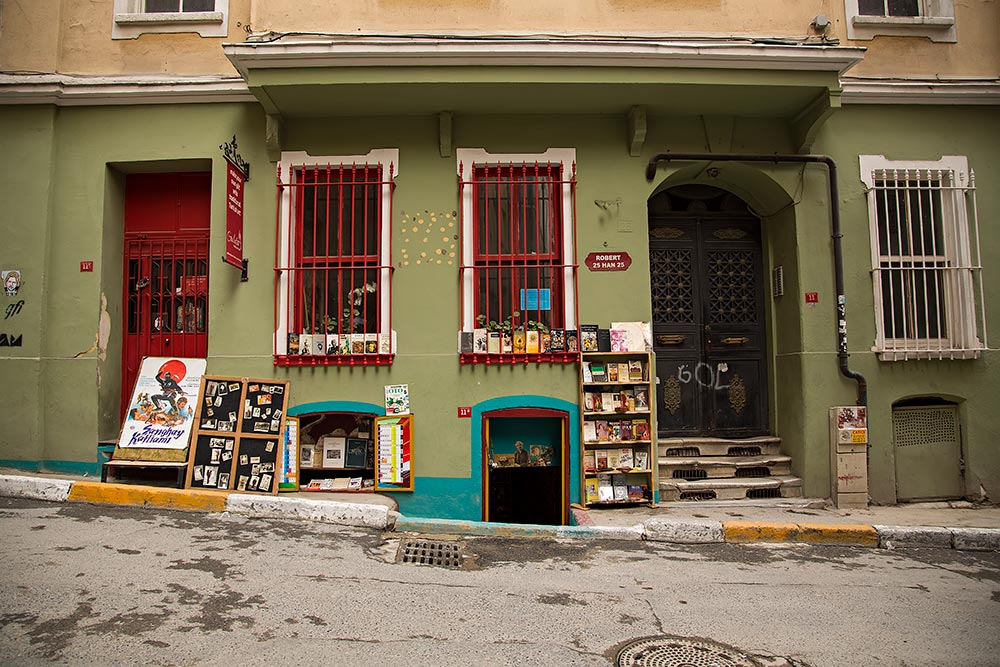 A super cute little retro shop in Galata, Istanbul.