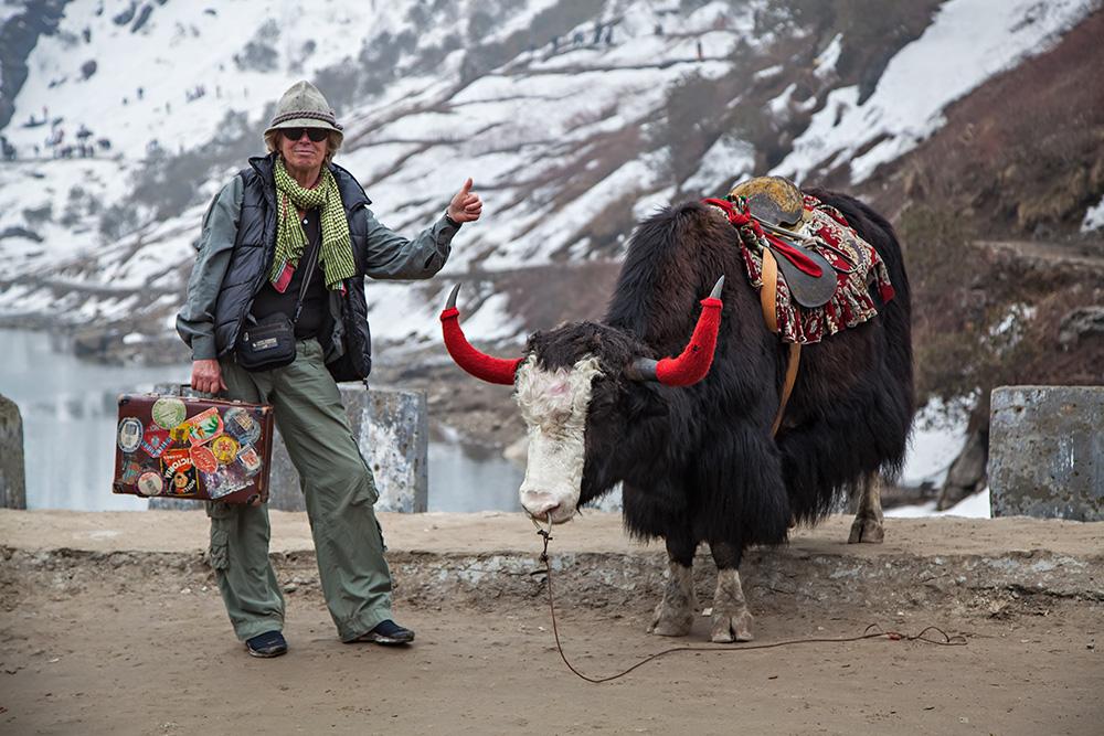Up at Nathu La Pass near Lake Tsongmo in Sikkim, India.