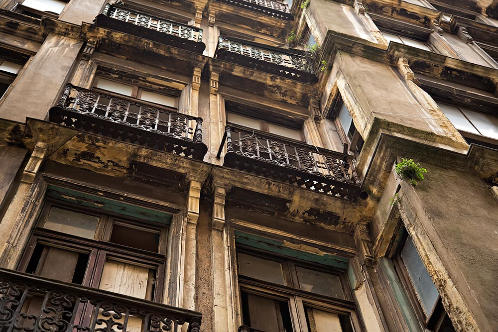 A run down building in Galata, Istanbul.