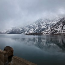 Lake Tsomgo up at Nathu La Pass in Sikkim, India.