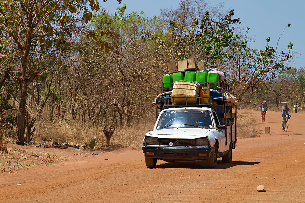 And another (smaller) bush taxi in Burkina Faso.