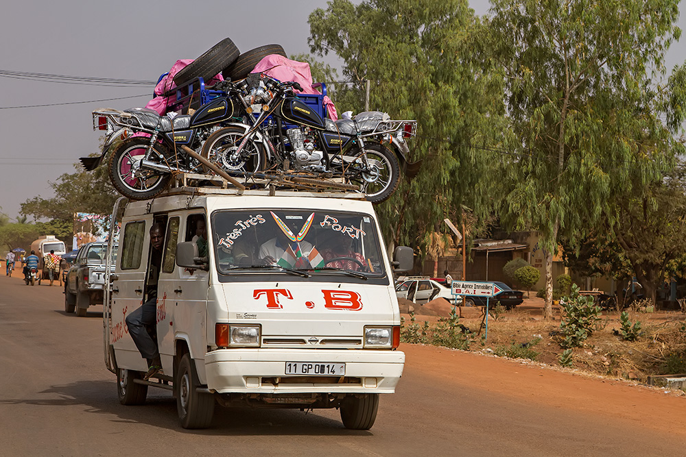 Another bush taxi in Burkina Faso.