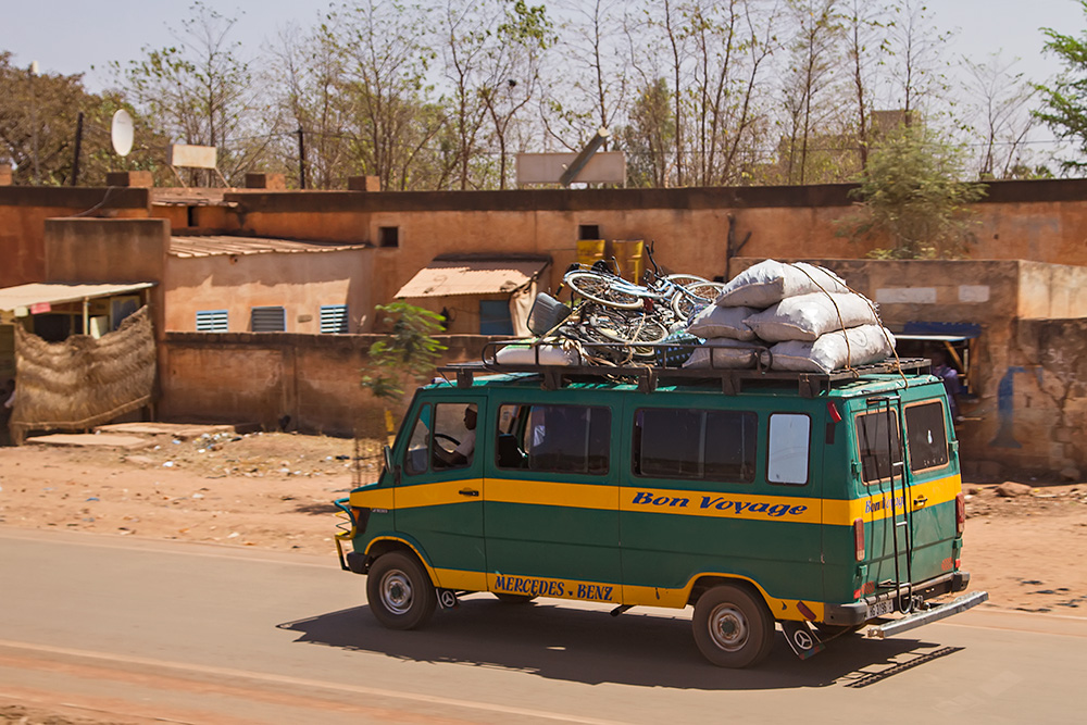Bush taxi in Burkina Faso.