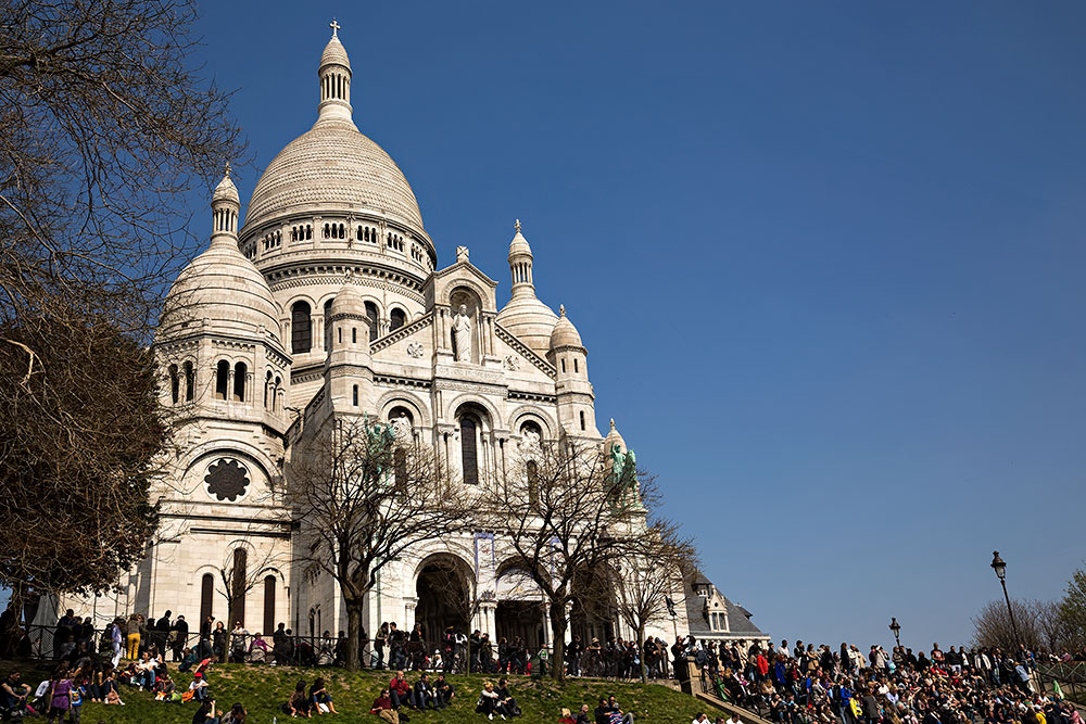 The Basilica of Sacré-Cœur in Paris, France.