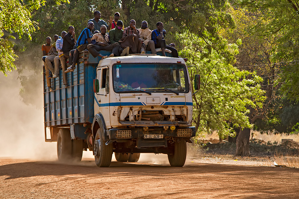 Trucking ia also a very popular way of getting from A to B in Burkina Faso.