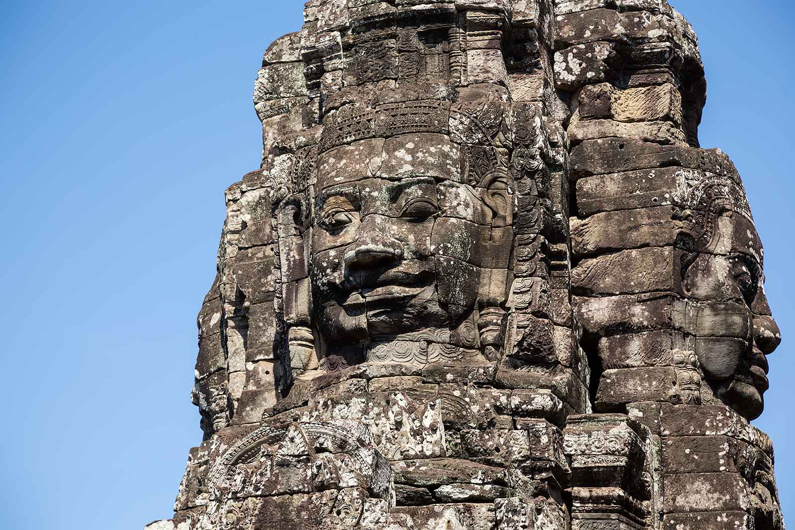 Bayon temple in Angkor Wat, Cambodia.