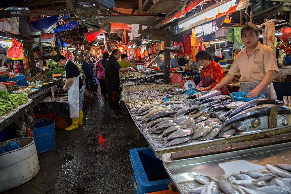 One of the walkways through Chow Kit market in Kuala Lumpur, Malaysia.