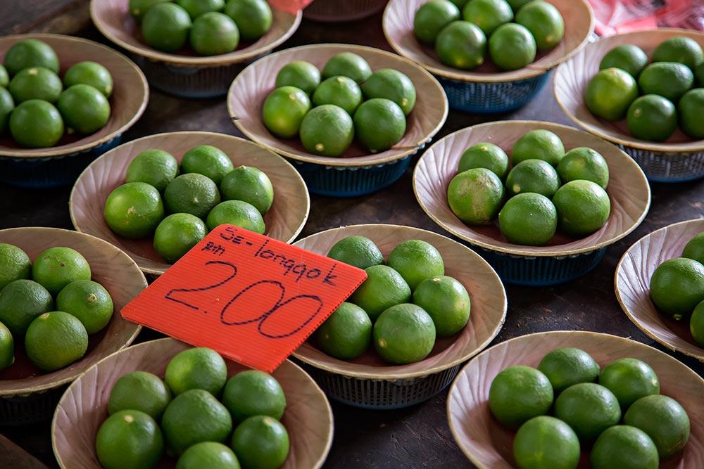 Fresh lime at Chow Kit market in Kuala Lumpur, Malaysia.
