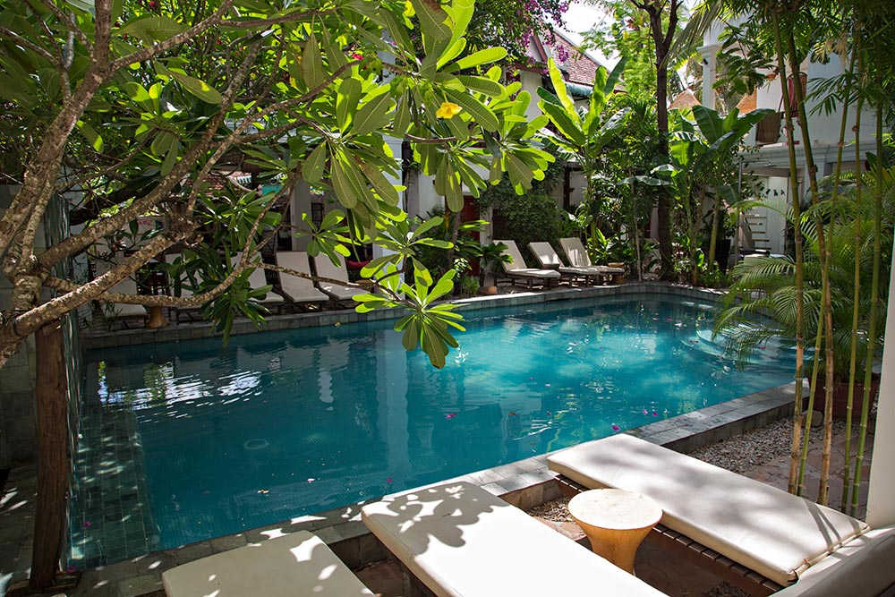 The Golden Banana Hotel in Siem Reap, Cambodia - Pool Area.