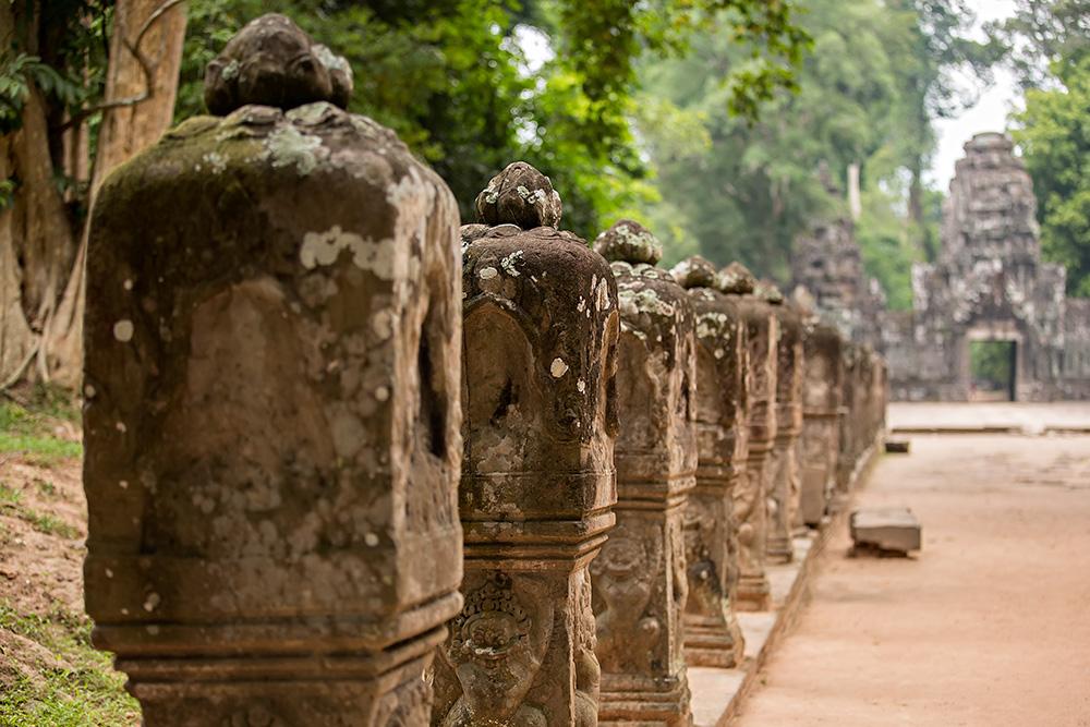 Preah Khan temple in Angkor Wat, Cambodia.