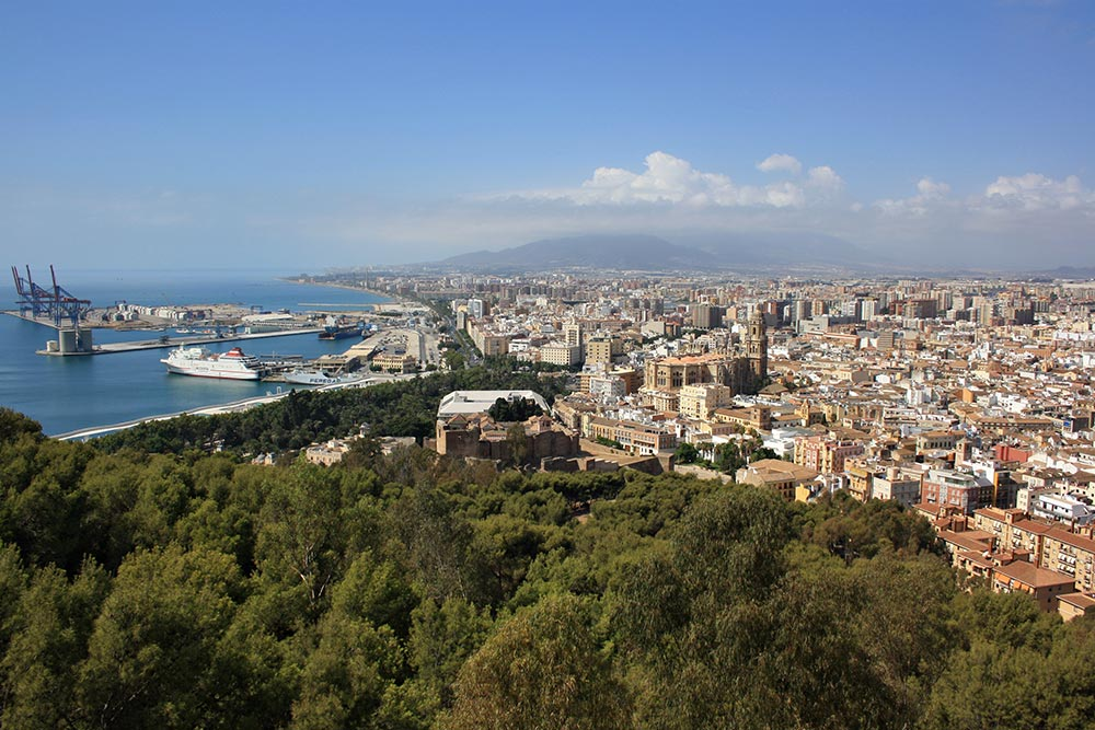 The city of Málaga from above.