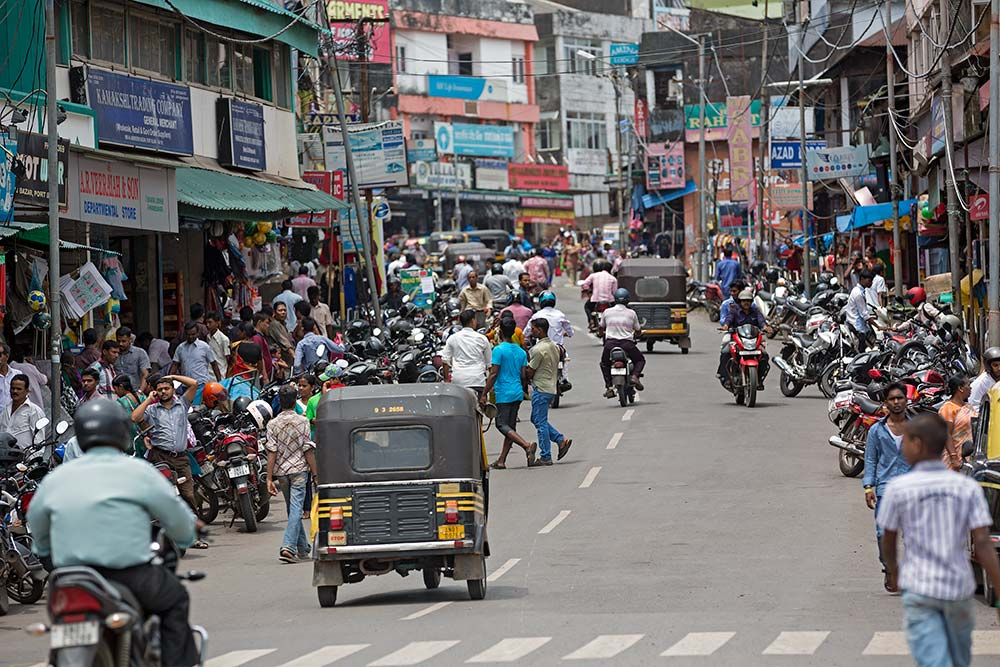 The main street in Port Blair, Andaman Islands.