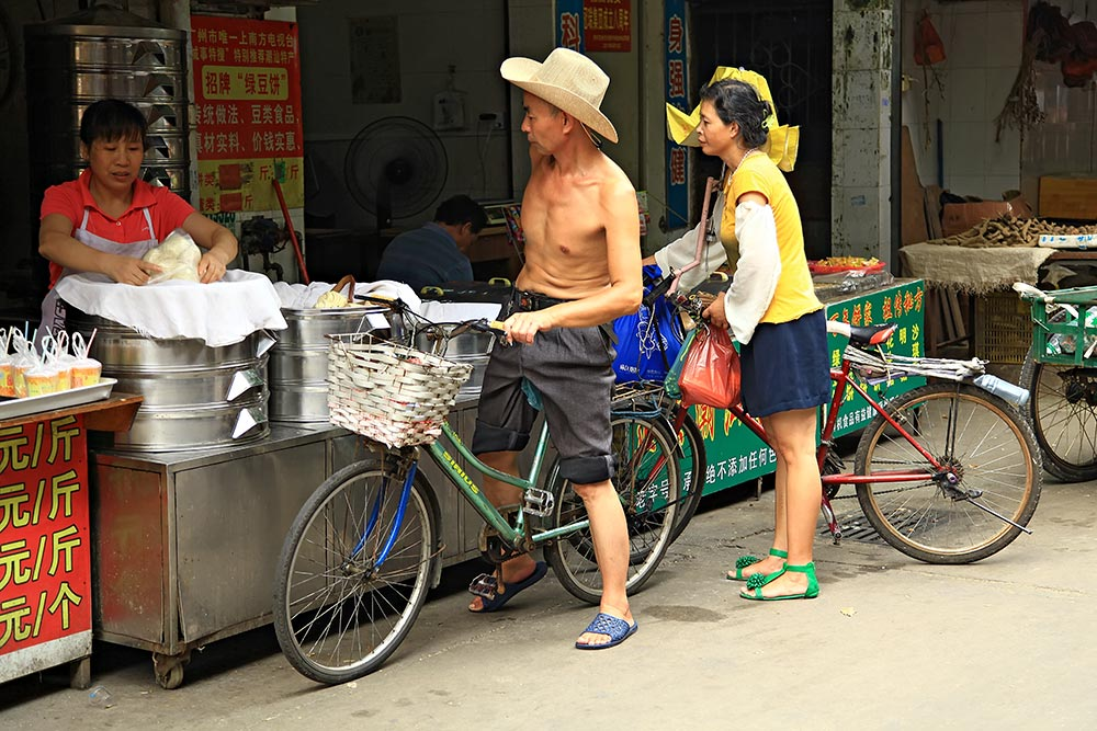 Shirtless all around in Guangzhou, China.