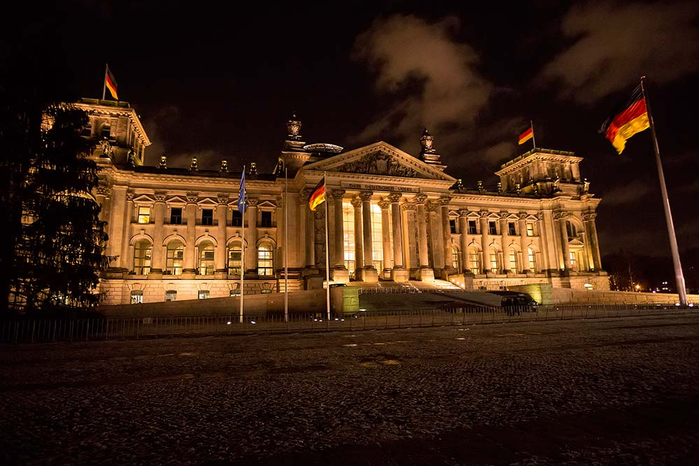 Reichstag Building in Berlin.