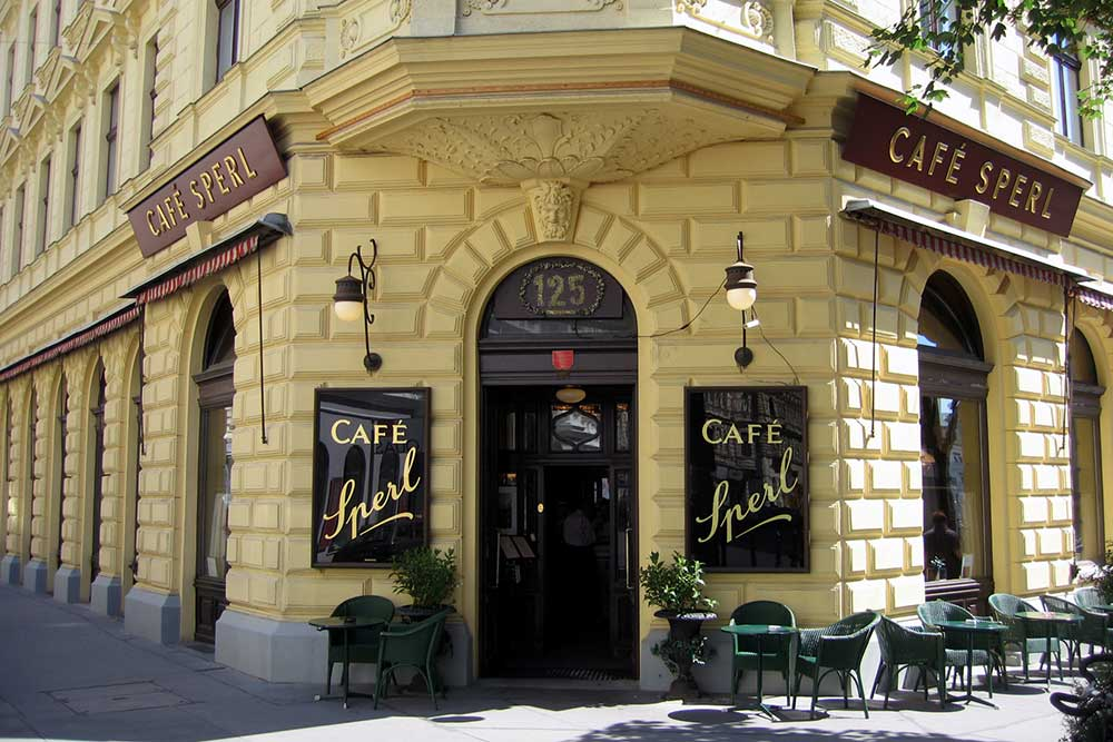 Outside Café Sperl in Vienna.
