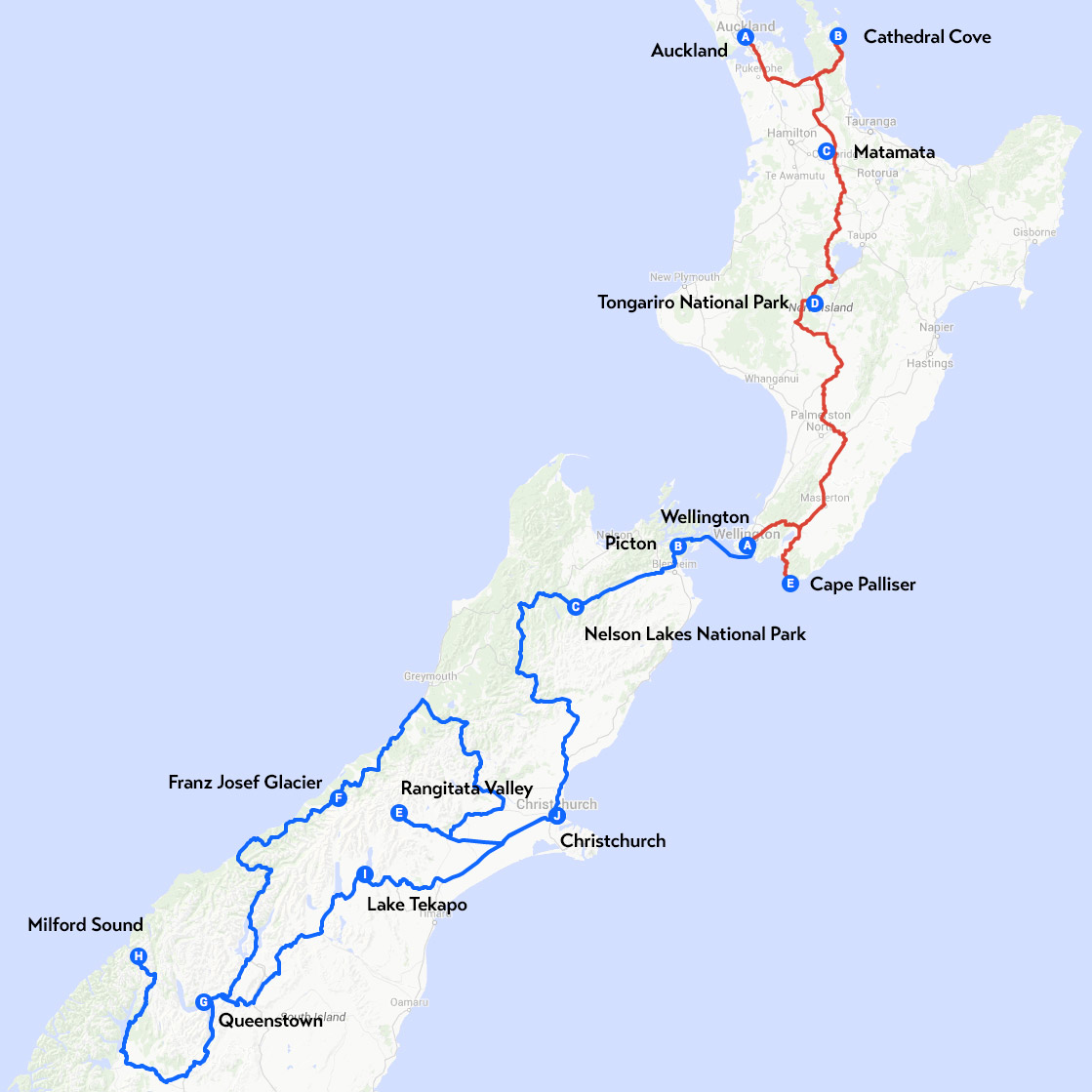 route-new-zealand-one-month-trip