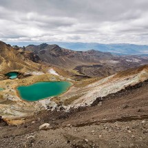 Emerald Lakes during the Tongariro Alpine Crossing, New Zealand.