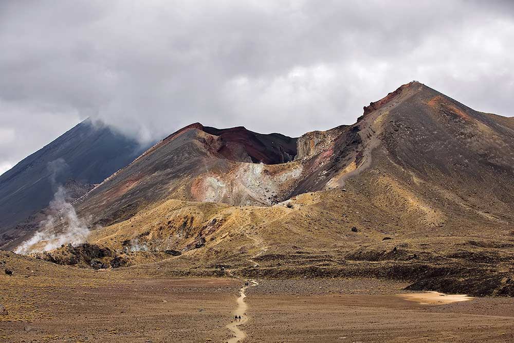 The Red Crater on the Tongariro Alpine Crossing, New Zealand.