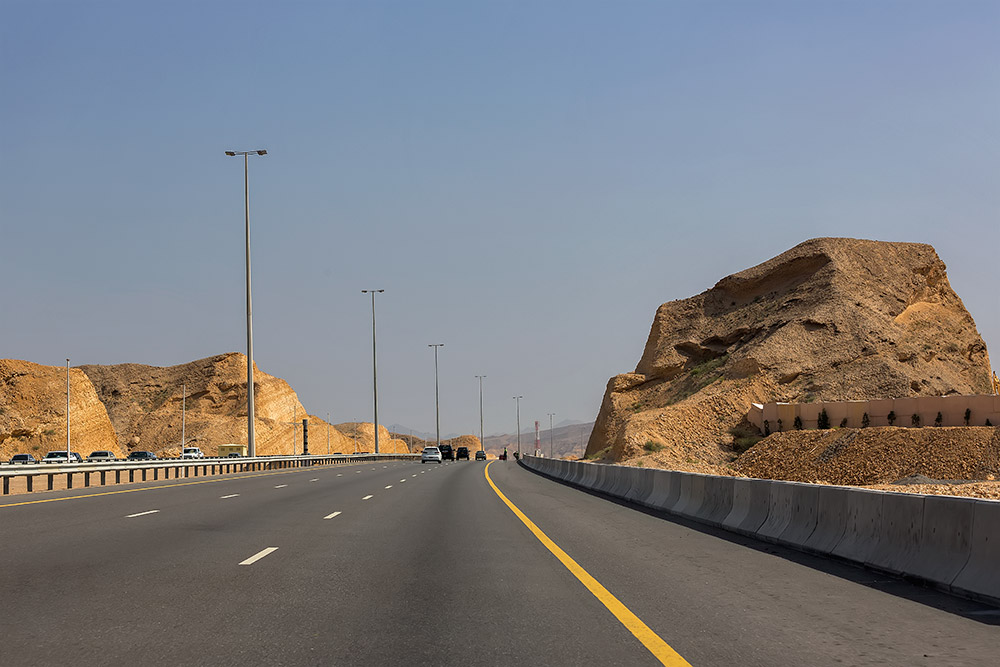 The street out of Muscat, Oman.