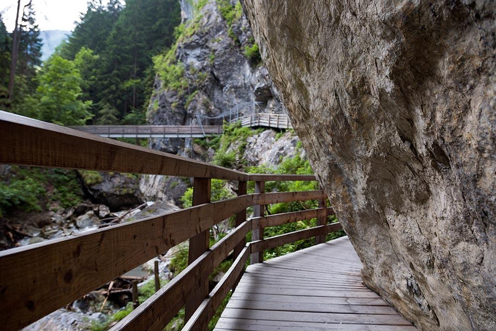 The walkway at the Kitzlochklamm in Salzburg, Austria.