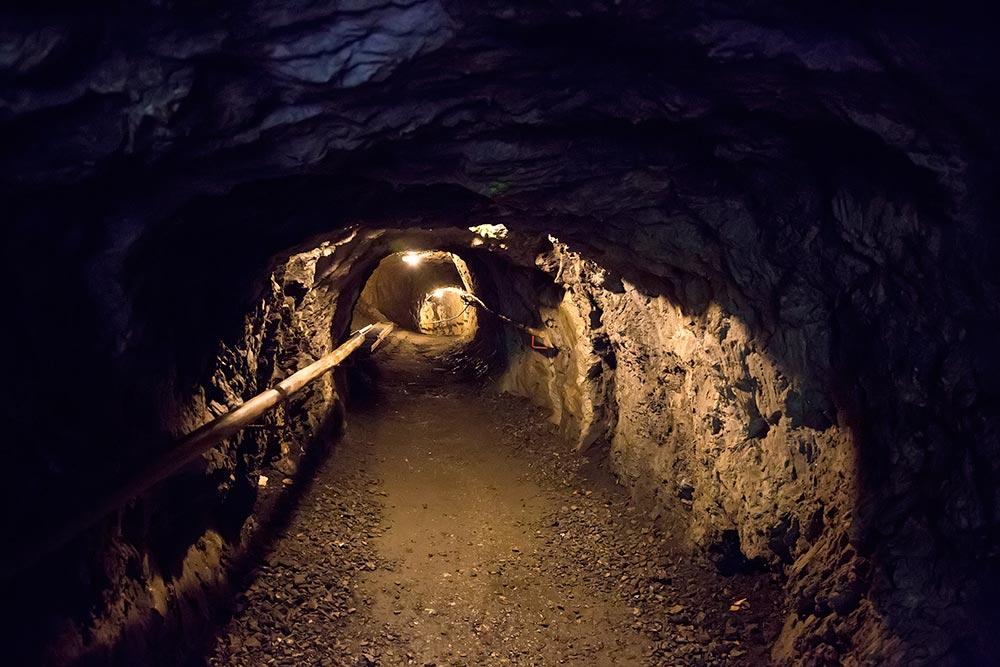 The underground walkway at the Kitzlochklamm in Salzburg, Austria.