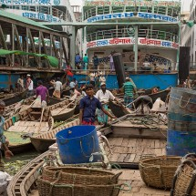 The daily chaos at Sadarghat port in Dhaka, Bangladesh