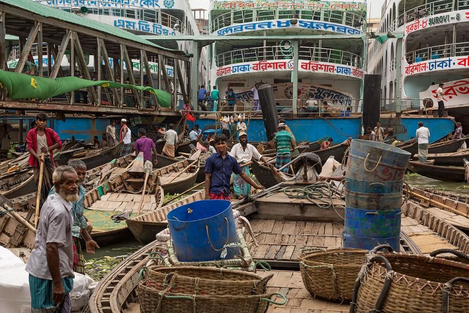 The Daily Chaos At Sadarghat Port In Dhaka, Bangladesh.