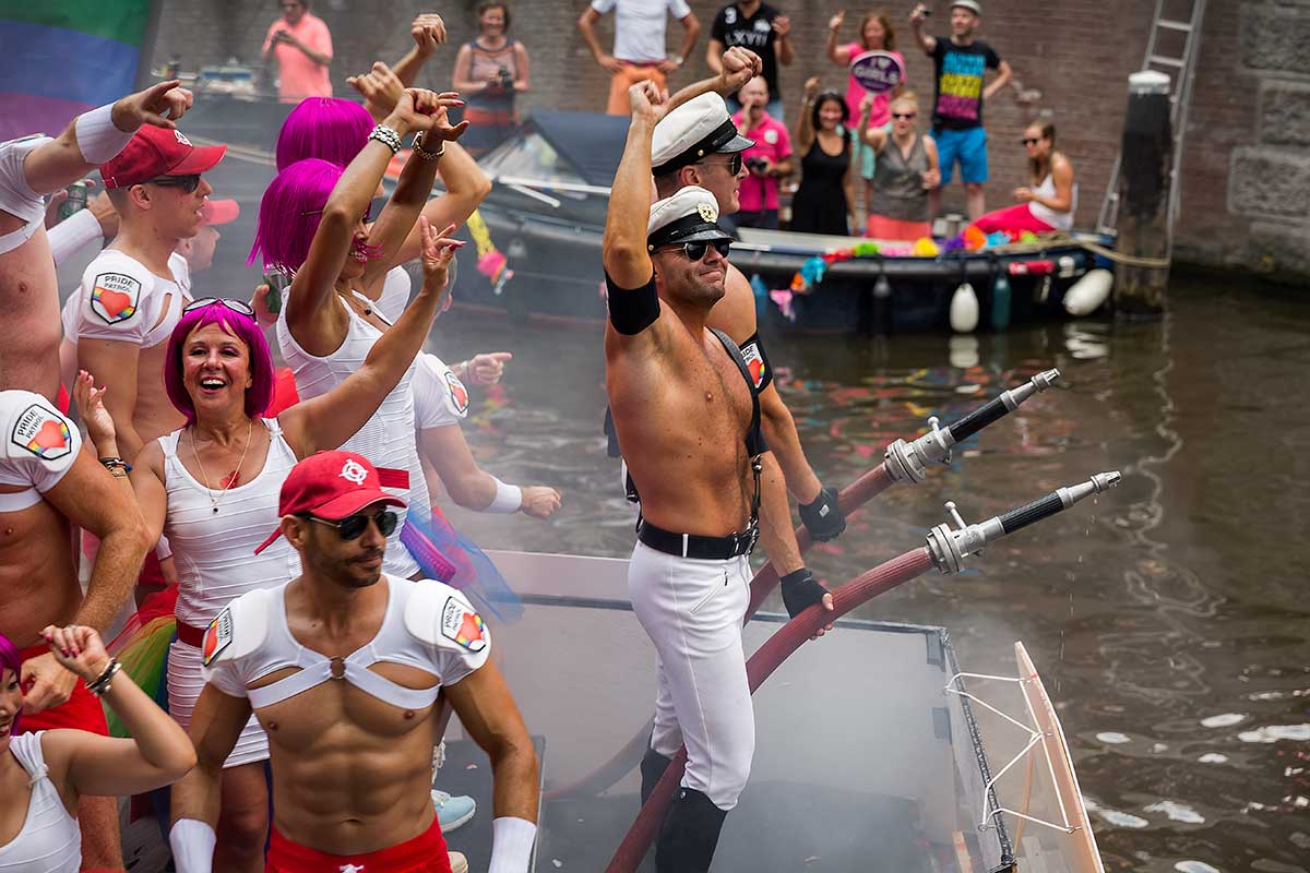 Pride Parades are held all across the globe, but Amsterdam is the only city that has the parade on boats.