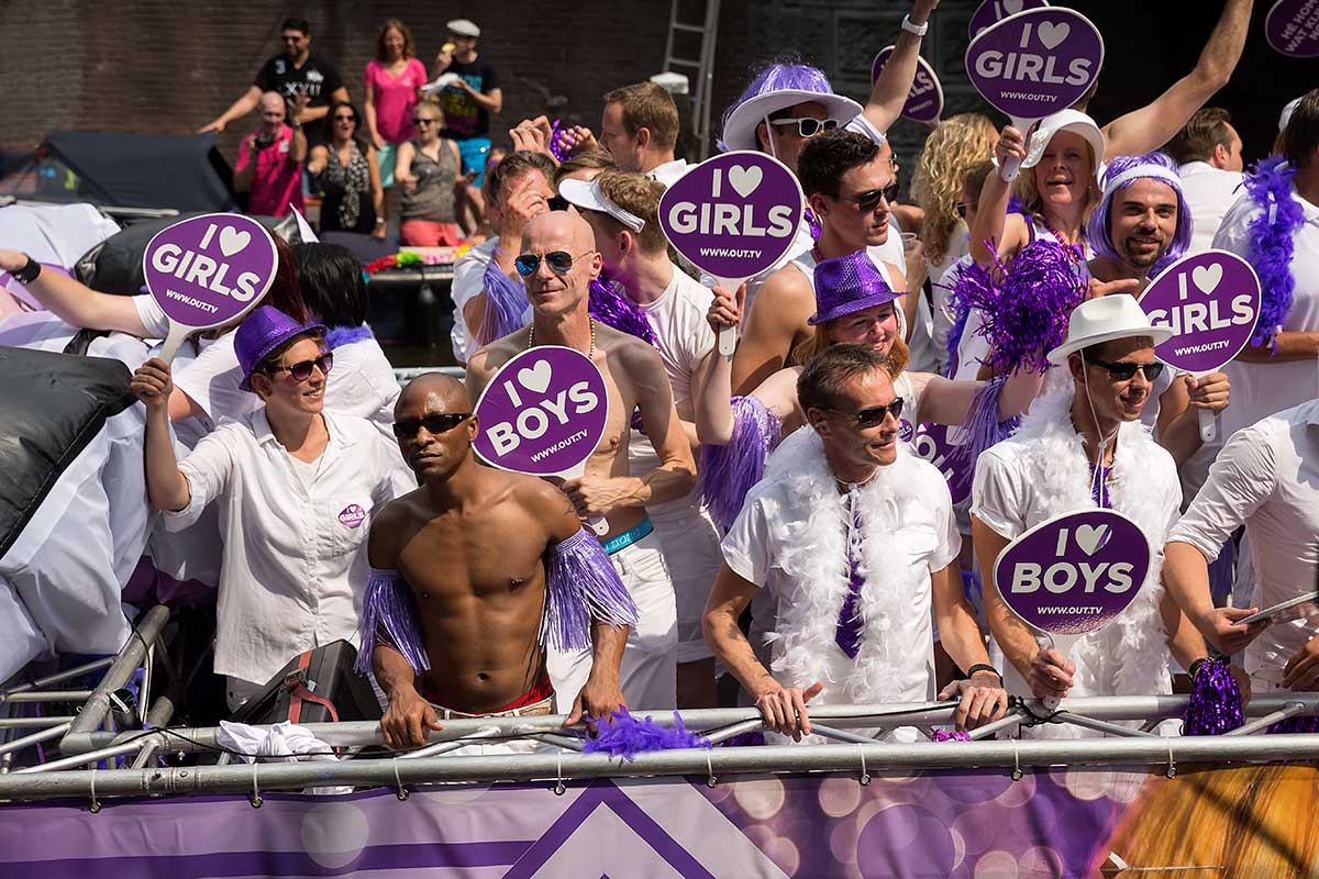 The Amsterdam Pride Parade is fun for everyone - gay and non-gay.