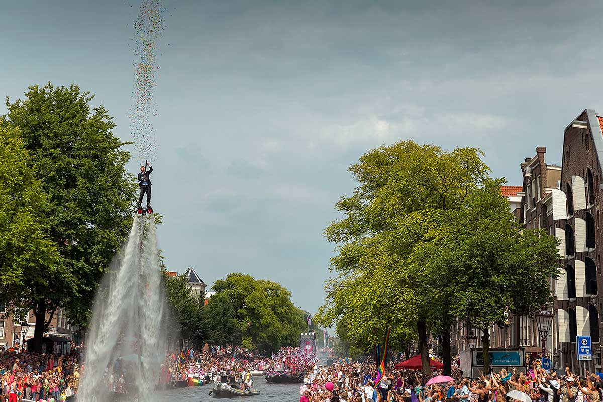 After King's Day, the Amsterdam Pride Parade is the biggest event in Amsterdam.