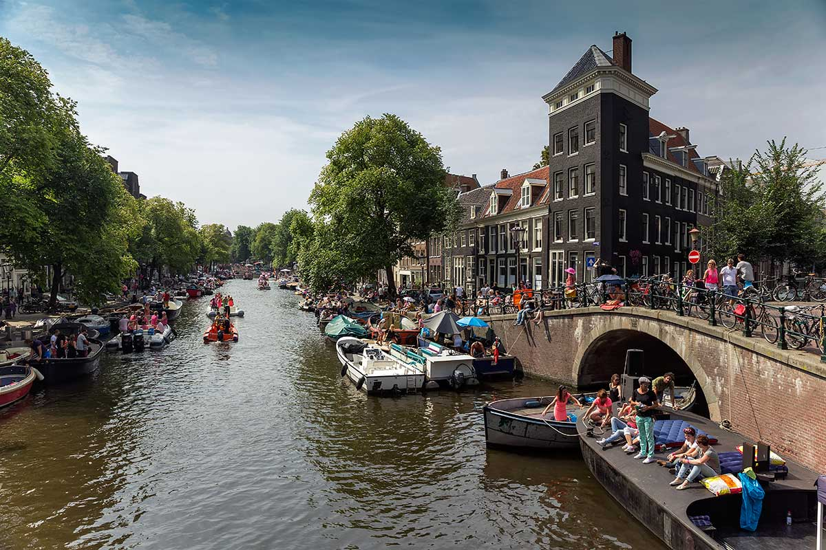 About 500.000 people from around the world attended the multicoloured beats-fuelled Pride Parade in historically tolerant Amsterdam.