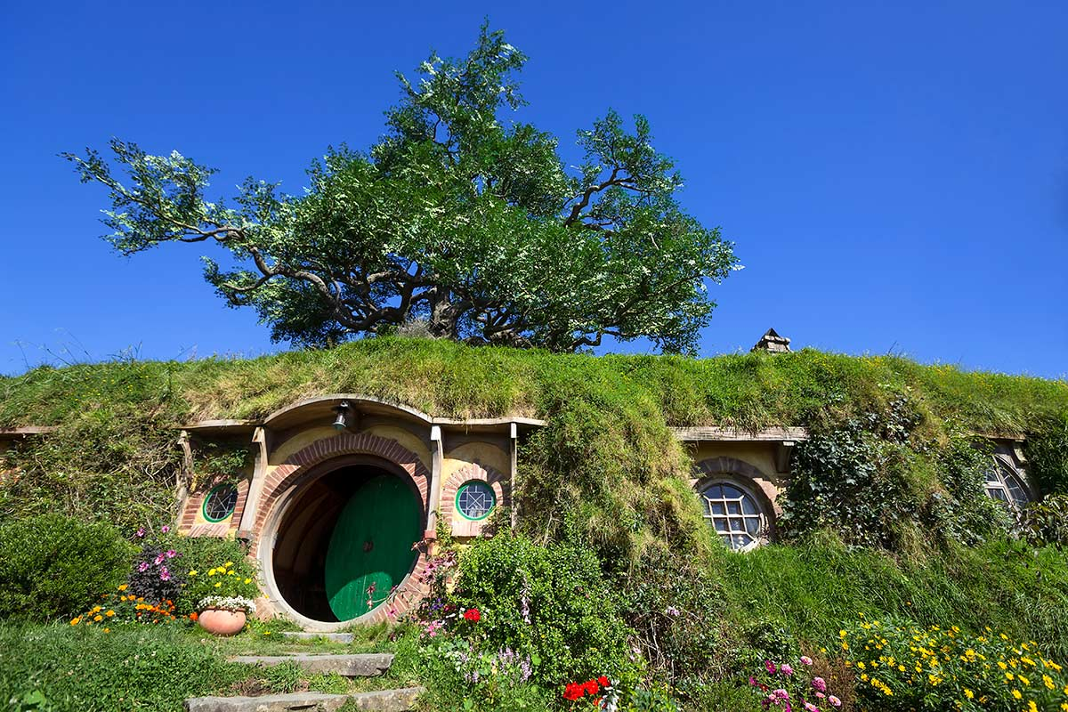 Bag End - home of Bilbo Baggins - at Hobbiton in Matamata, New Zealand.