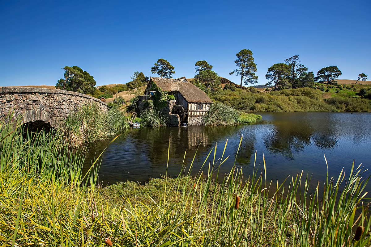 The Old Mill at Hobbiton in Matamata, New Zealand.