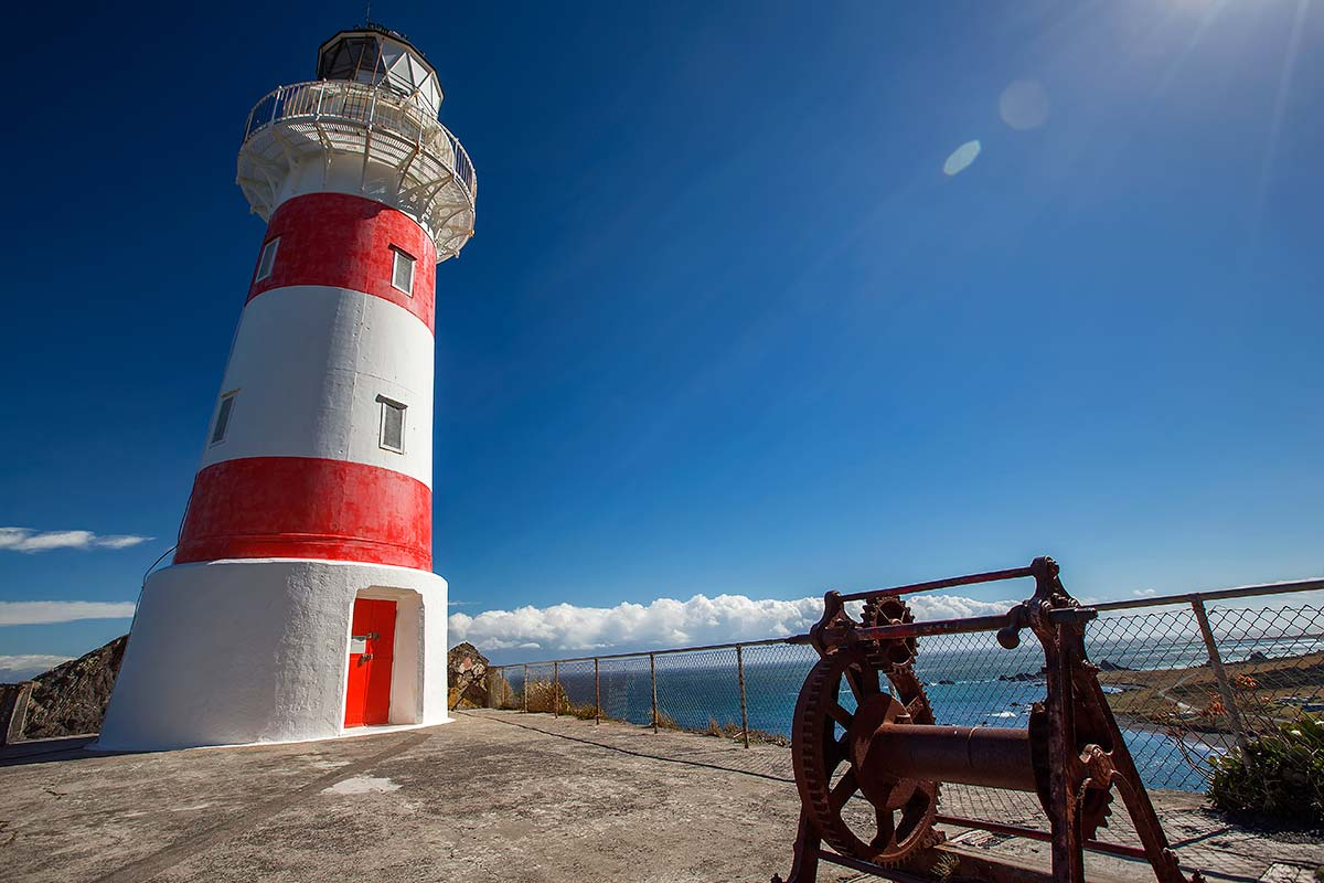 Cape Palliser Lighthouse; the southernmost point of the North Island and one of the most remote places in New Zealand.