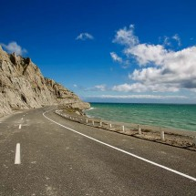 The ocean road along the cost of Cape Palliser is dramatically scenic. One of the most impressive drives during my trip through New Zealand.