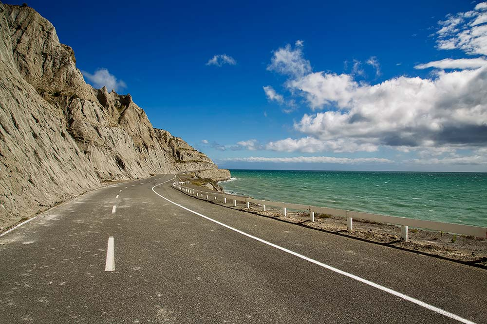 The ocean road along the coast of Cape Palliser is dramatically scenic. One of the most impressive drives during my trip through New Zealand.