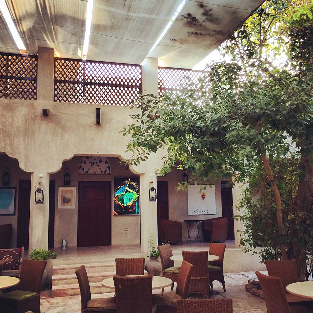 The courtyard of XVA Art Hotel in Dubai is really lovely.