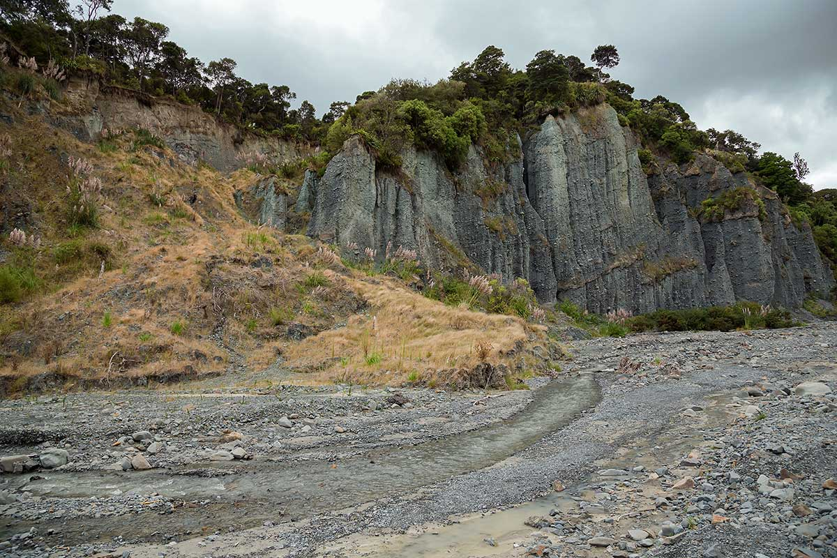 Putangirua Pinnacles in New Zealand.