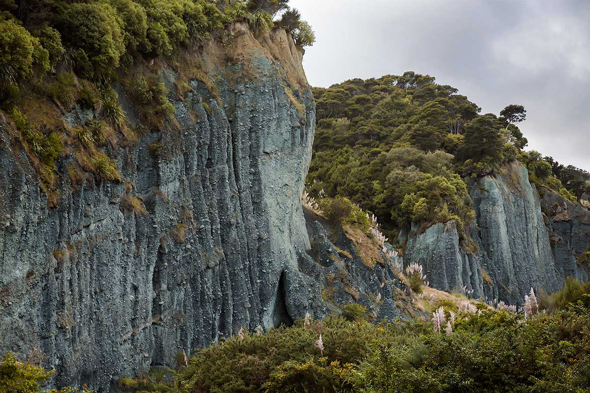 The Puntangirua Pinnacles in New Zealand.