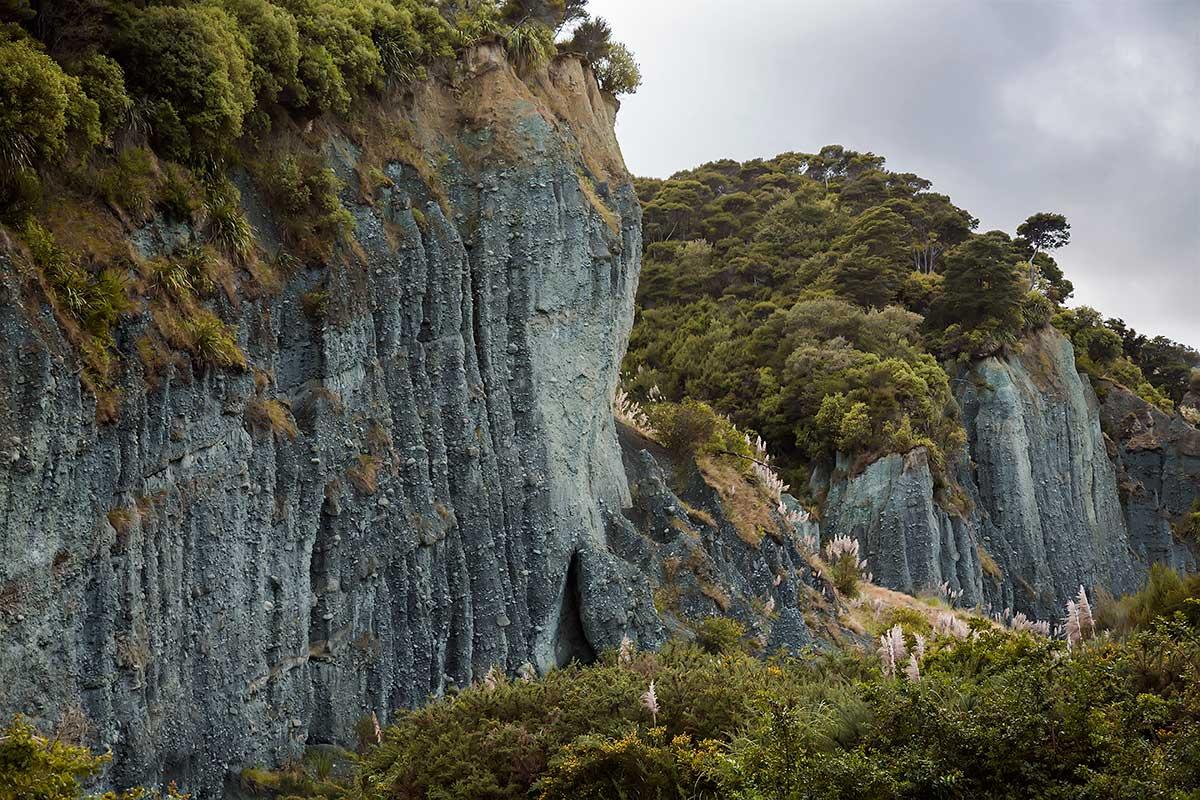 The Puntangirua Pinnacles in New Zealand.