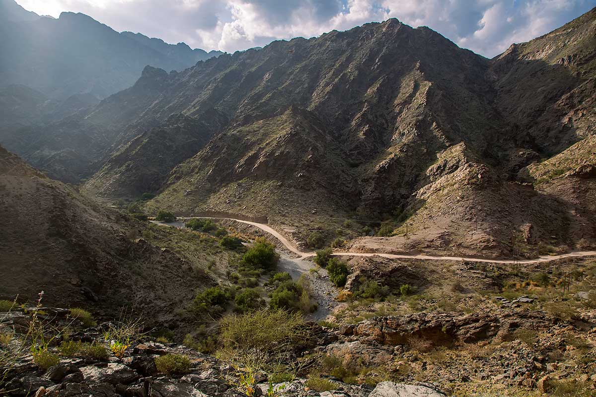 Driving through the mountainous landscape of Jebel Akhdar in Oman definitely required a 4x4 drive.