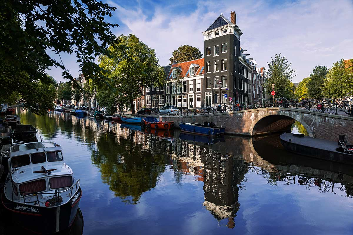 The Prinsengracht in Amsterdam is one of the most well-known Gracht's and the heart of the Canal Pride Parade.