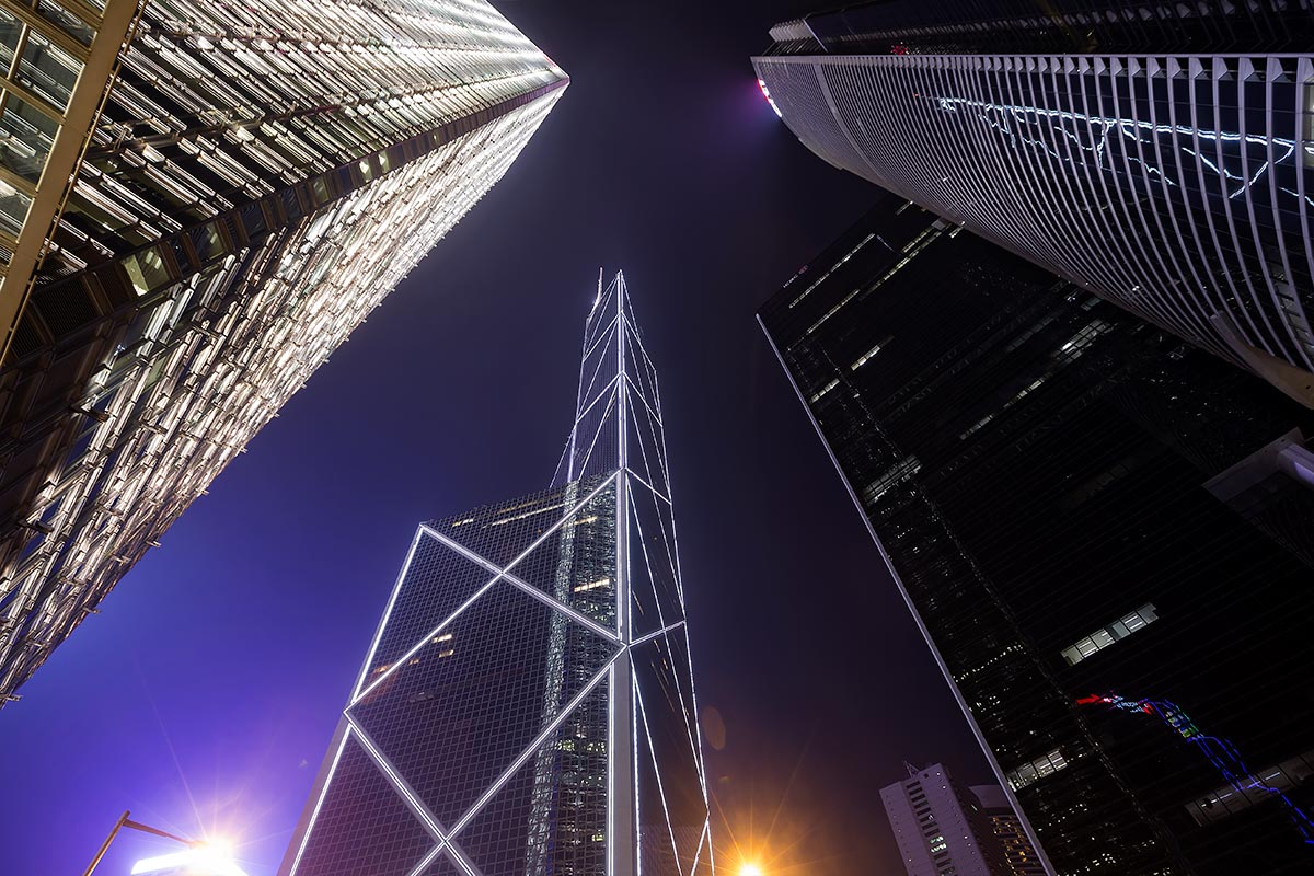 The skyline of Hong Kong is one of the most spectacular in the world.