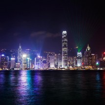 """The """"Symphony of Lights"""" laser show is one of the major attractions in Hong Kong."""