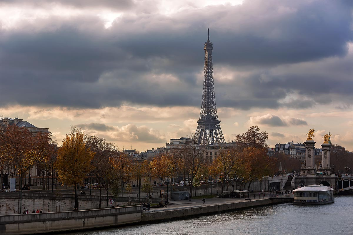 Paris is a city for every season. Here with its landmark the Eiffel Tower.