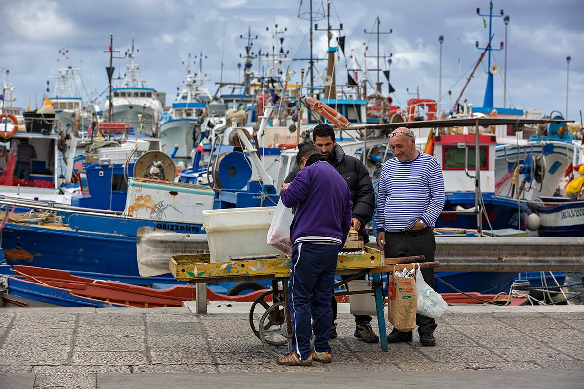 Much of Trapani's economy still depends on the sea. Fishing and canning are the main local industries.