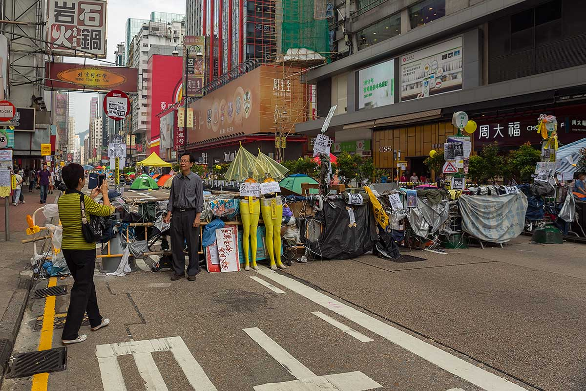 The camsites of the Umbrella Movement in Hong Kong have also become a major tourist attraction...